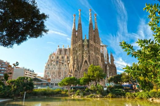 BARCELONA, SPAIN - DECEMBER 14: La Sagrada Familia - the impressive cathedral designed by Gaudi, which is being build since 19 March 1882 and is not finished yet December 14, 2009 in Barcelona, Spain.
